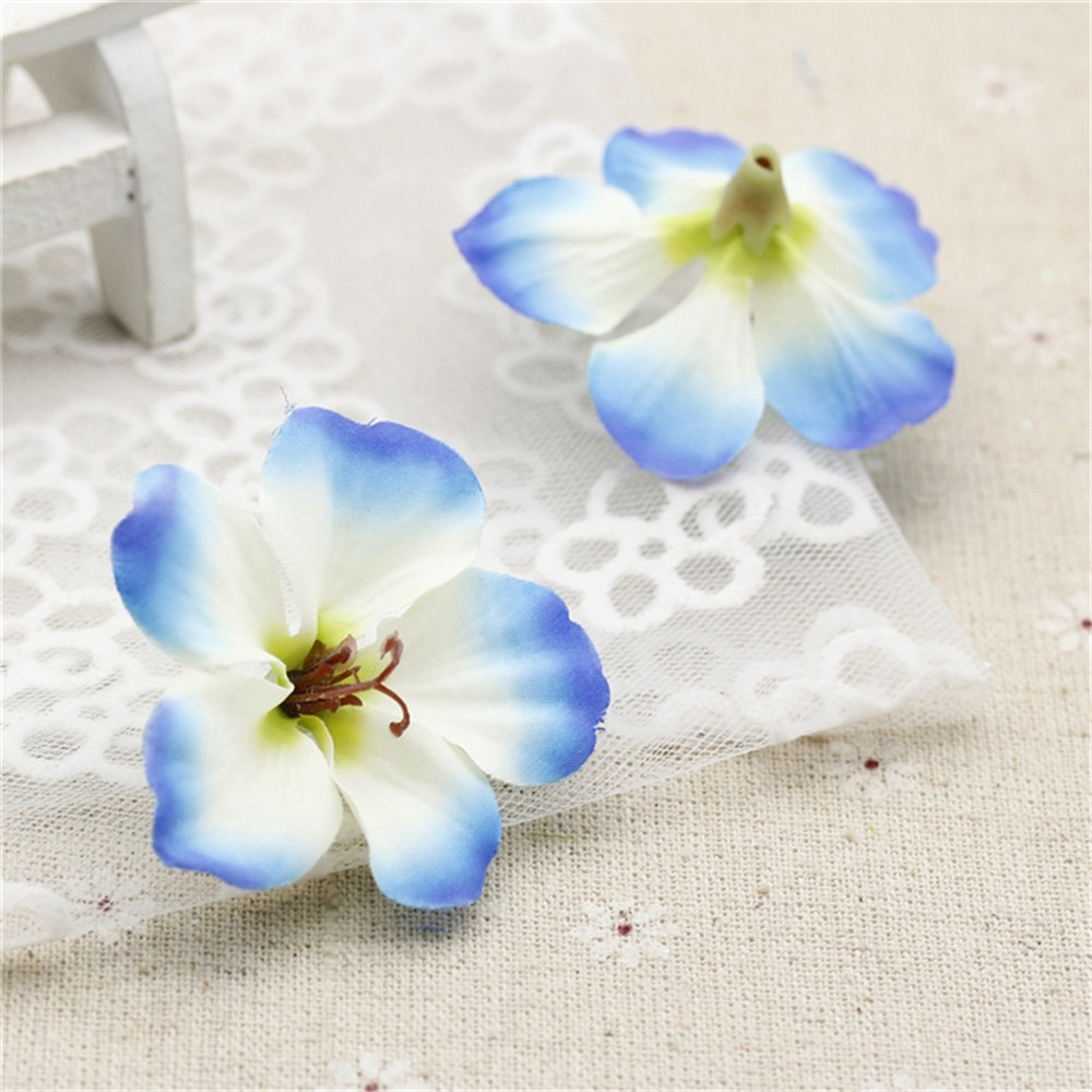 Primavera Gradiente de Seda de la Orquídea de Flores Artificiales Para La Boda D