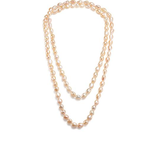 elegant 11-12mm south sea baroque gold pinkpearl necklace 38inch 925s single 38inch 11 12mm south sea baroque white pearl necklace shipping free