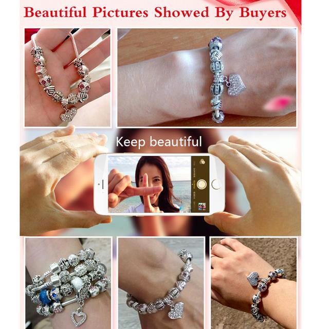 Tibetan Sterling Silver Charm Bracelet