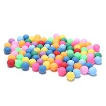 Новинка 100 шт./упак. Цветные мячи для пинг-понга 40 мм развлекательные мячи для настольного тенниса смешанные цвета для игры и рекламы