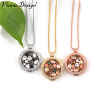New My Coins Necklace Mi 33mm Disc Fit In Vinnie Design Rhinestone Crystal Pendant Moneda Coin