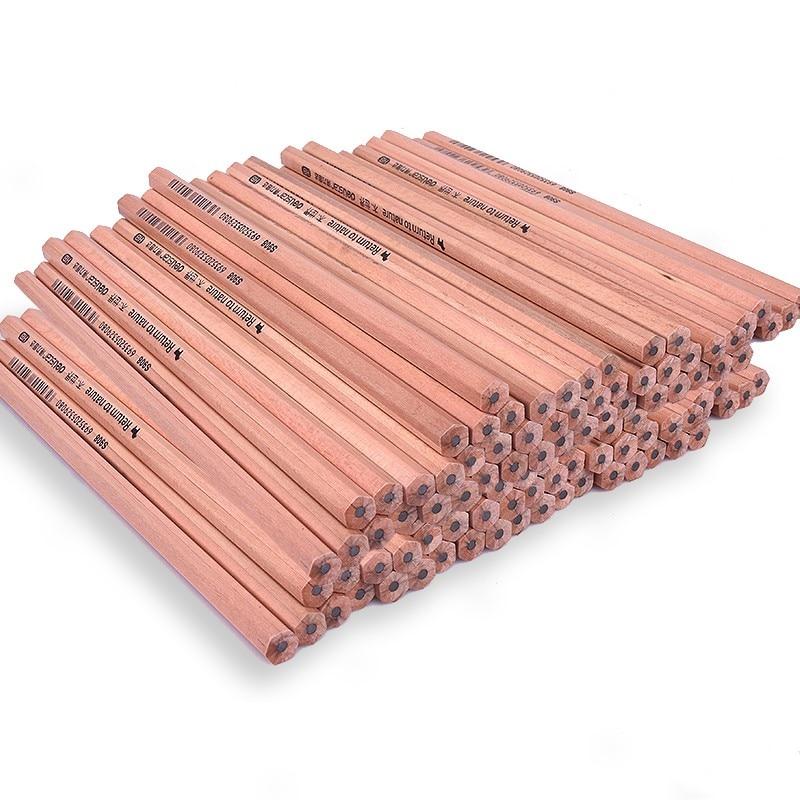 Wood-cased HB 2B Pencils, Sketching Pencil Set 10 PCS/PACK, Black Core, Crude Wood, Nontoxic,