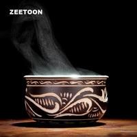 70ml Boutique Vintage Totem Longquan Celadon Ceramic Porcelain Teacup Handmade Chinese Kung Fu Tea Set Tea Cup Master Cup Bowl