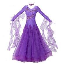 Kobiety sukienki do tańca towarzyskiego standardowe taniec towarzyski ubrania konkurs standardowy strój do tańca walc Foxtrot
