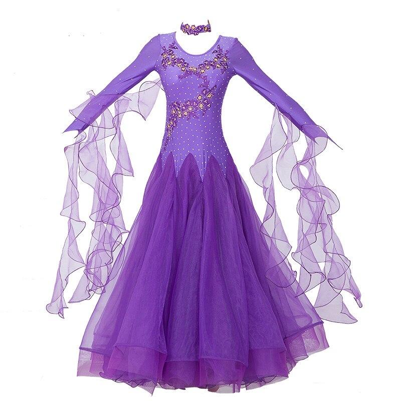 Women Ballroom Dance Dresses Standard Ballroom Dancing Clothes Competition Standard Dance Dress Waltz Foxtrot Dress-in Ballroom from Novelty & Special Use    1