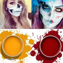Imagic rosto pintura corpo maquiagem arte pintura desenho pigmento flash brilho cor fantasia pintura para festa dia das bruxas fantasia carnaval