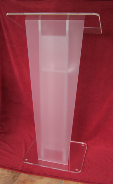 Church Acrylic Podium/Clear Acrylic Frosted Glass Plate Platform