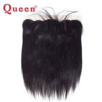 Queen Hair продукты перуанский прямые волосы переплетения Связки 13x4 Синтетический Frontal шнурка волос Накладные волосы с волосы младенца 100% remy Че...