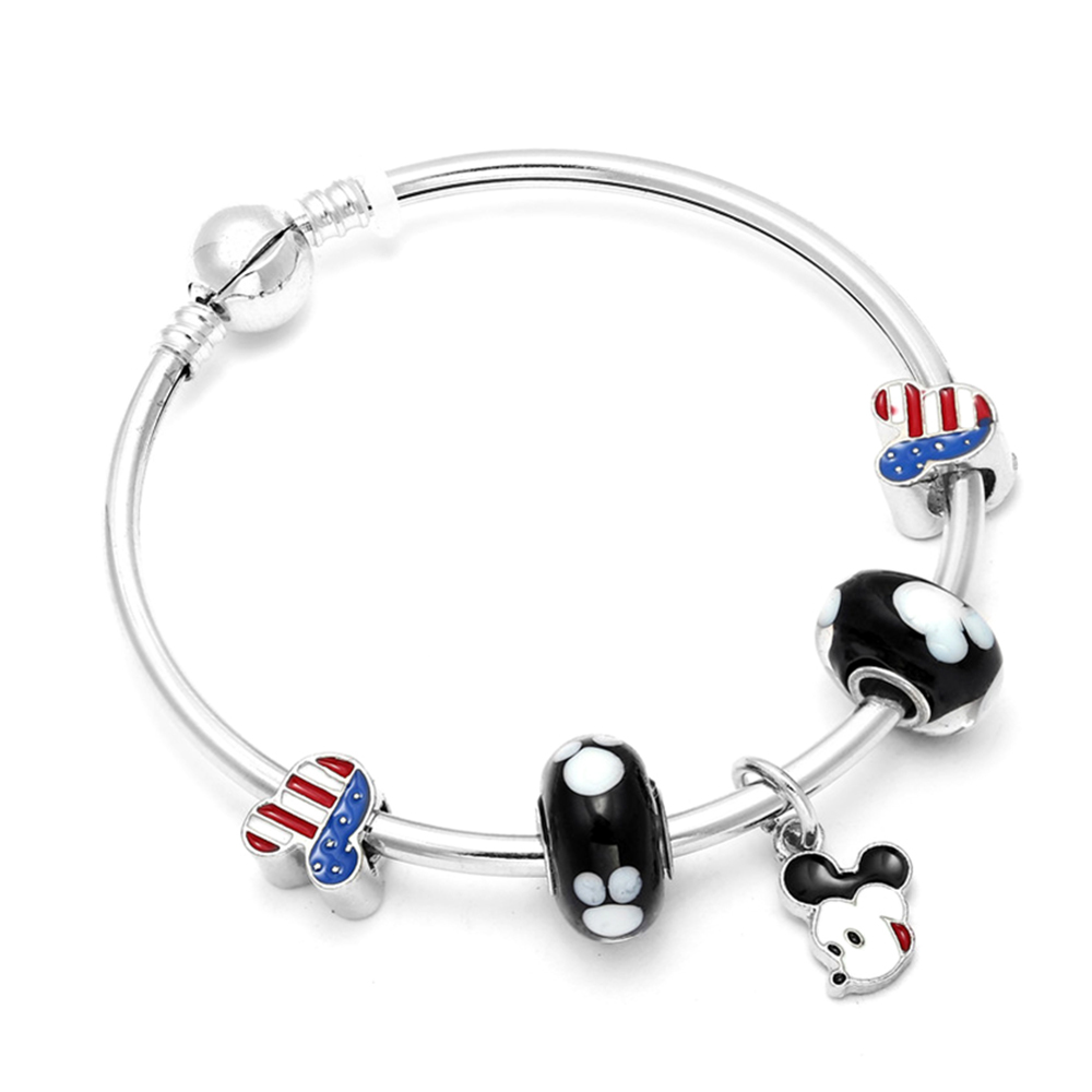 Fashion Mickey Charm Beads Pandora Bracelets & Bangles Minnie Mouse Jewellery For Women Children Gift Bijoux Femme Accessories