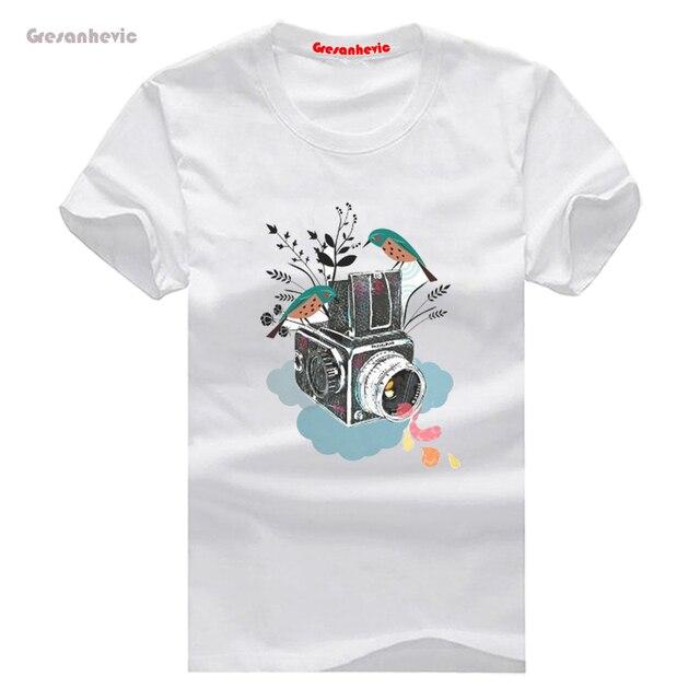 af62e3d4b9905 Vintage cámara Hasselblad nueva moda hombres camisetas algodón Camisetas  Hombre Ropa al por mayor
