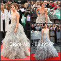 Emma Watson Dress Style Harry Potter Premiere In London-Custom Made Tiered Ball Gown Red Carpet Celebrity Dresses