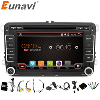 Eunavi 2 Din Android 6.0 Car Audio Car DVD Player GPS de Rádio Para VW GOLF 6 Polo Bora JETTA PASSAT B6 Tiguan SKODA OCTAVIA 3G OBD