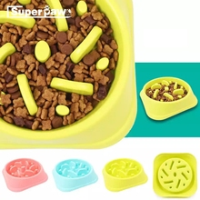 Portable Pet Dog Feeding Food Bowls Puppy Slow Down Eating Feeder Dish Bowl Prevent Obesity Dogs Supplies Pets Accessories MDD23