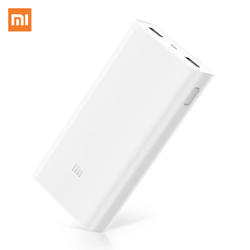 Original Xiaomi Power Bank 20000mAh 2C Portable Charger Support QC3.0 Dual USB Mi External Battery Bank 20000 for Mobile Phones original romoss sense4 dual usb 10400mah power bank
