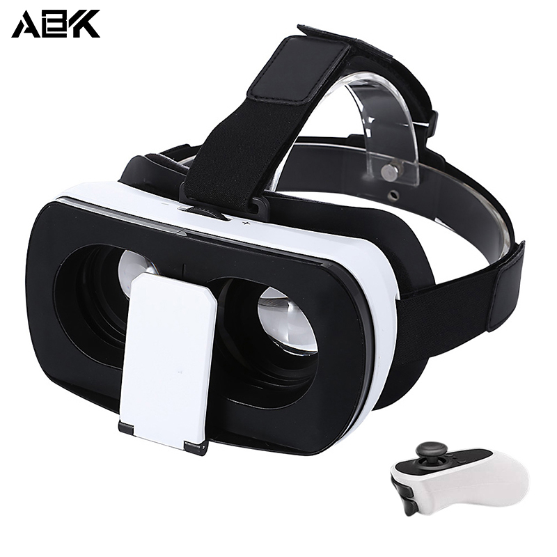 ALBK V2 3D VR Glasses Virtual Reality Glasses 96 Degree View Angle with Romote Controller for 3.5 – 6.0 inch Smartphones