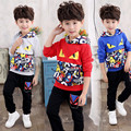 teenage boys clothes kids clothes spring and autumn children long-sleeve sports set cartoon Monster children clothing