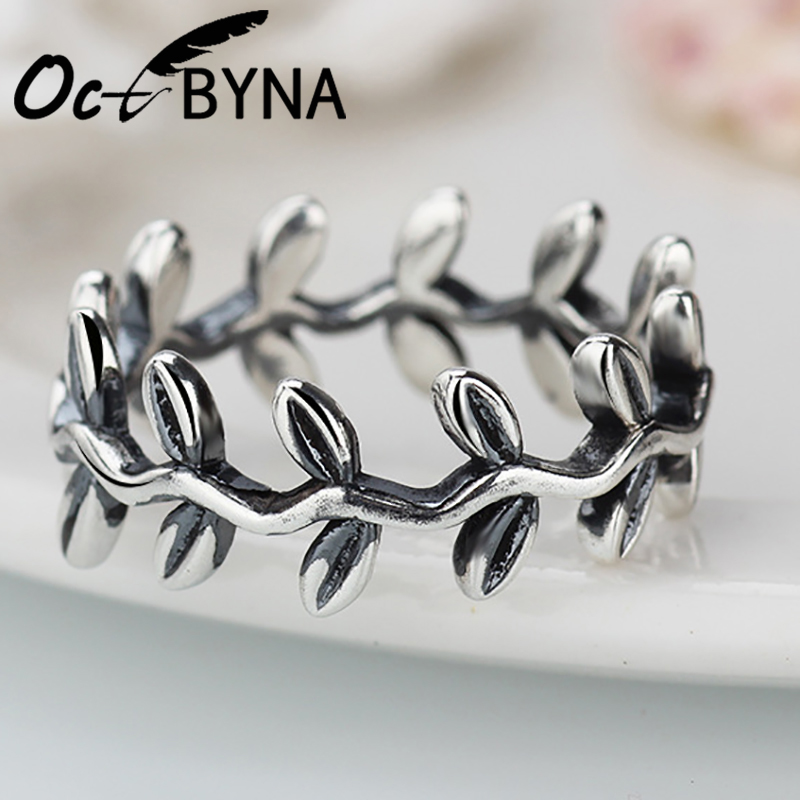 478ee4f26 Detail Feedback Questions about Octbyna 2018 New Authentic Sliver Plated  Laurel Wreath Laurel Leaves Brand Ring For Women Jewelry Female Gift on ...