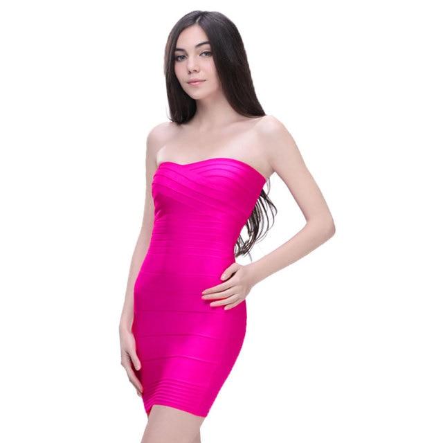 c8bd155362b6 hot pink new fashion 2017 rayon sexy money strapless bodycon hl mini  celebrity bandage kim kardashian dresses