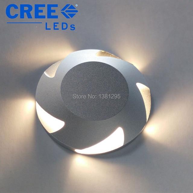 Luci di coperta a LED IP67 12V 24V 3W CREE incasso a pavimento scale passo parete vialetto Patio finitrice lampada sotterranea faretto esterno