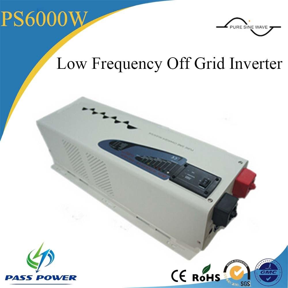 Dc 24 В ac 220 В 50 Гц низкочастотный преобразователь солнечной 6000 вт выкл сетка инвертор с CE утвержден
