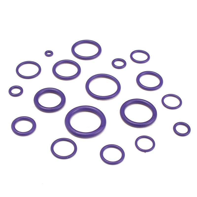 225 шт. фиолетовый уплотнительное кольцо Прокладки кондиционер o кольцо Уплотнители шайба инструментов резиновая Стандартный Запчасти авто...