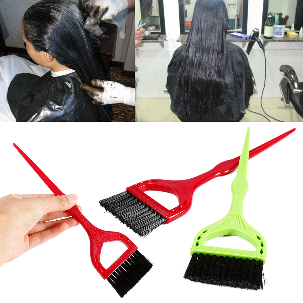 2019 1Pcs High Quality Hair Tinting Brushes Plastic Salon Hair Dye Tint Coloring Brush DIY Styling Tools