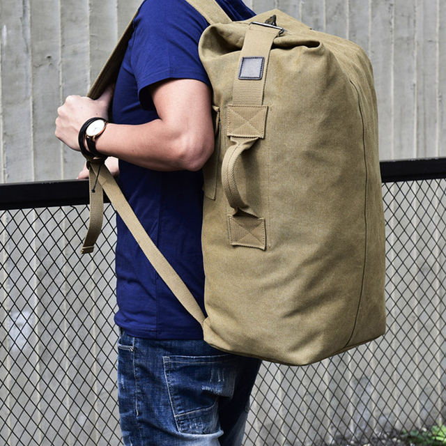 Canvas Travel Backpack – Large Capacity