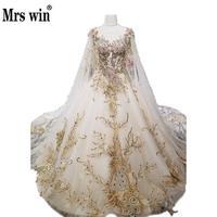 Robe De Mariee Grande Taille Với Cape Real Photo Royal ren Thêu Độc Đáo Wedding Dress Bóng Gowns Illusion Lại Gelinlik C