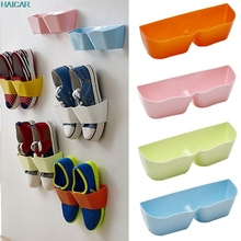Creative Plastic shoes rack holder Shelf Stand Cabinet Display Shelf Organizer space saver Wall Shoe Rack
