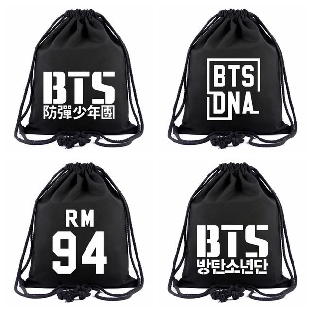 New BTS Drawstring Bags BTS DNA Backpacks For Teenagers Boys Girls J-HOPE  JIMIN RM