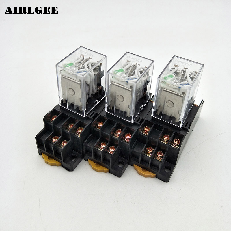3 Pcs HH53PL DC 24V Coil 3PDT 11Pin 35mm DIN Rail Mounting Electromagnetic Relay Free Shipping цены