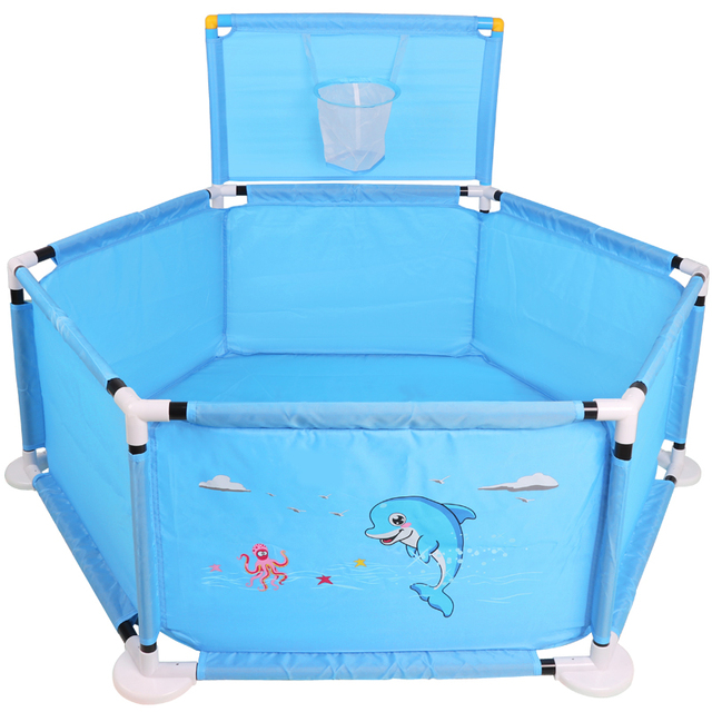 Safety Folding Baby Fence Guard Kids Playpen Portable Child Game Play Tent  Ocean Ball Game Playing