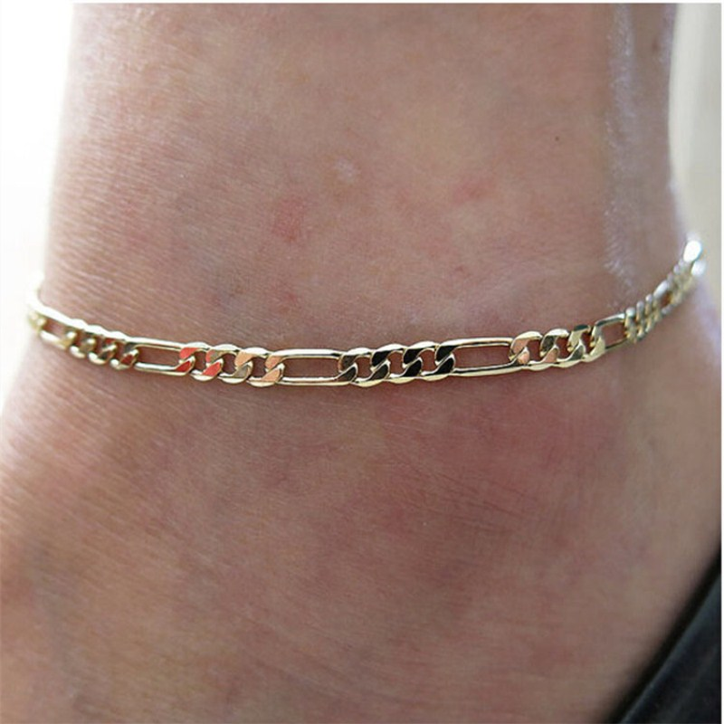 L158 European American Steampunk New Men Bijoux Charm Metal Chain Anklets For Women Bangle Jewelry Accessories Gifts Wholesale