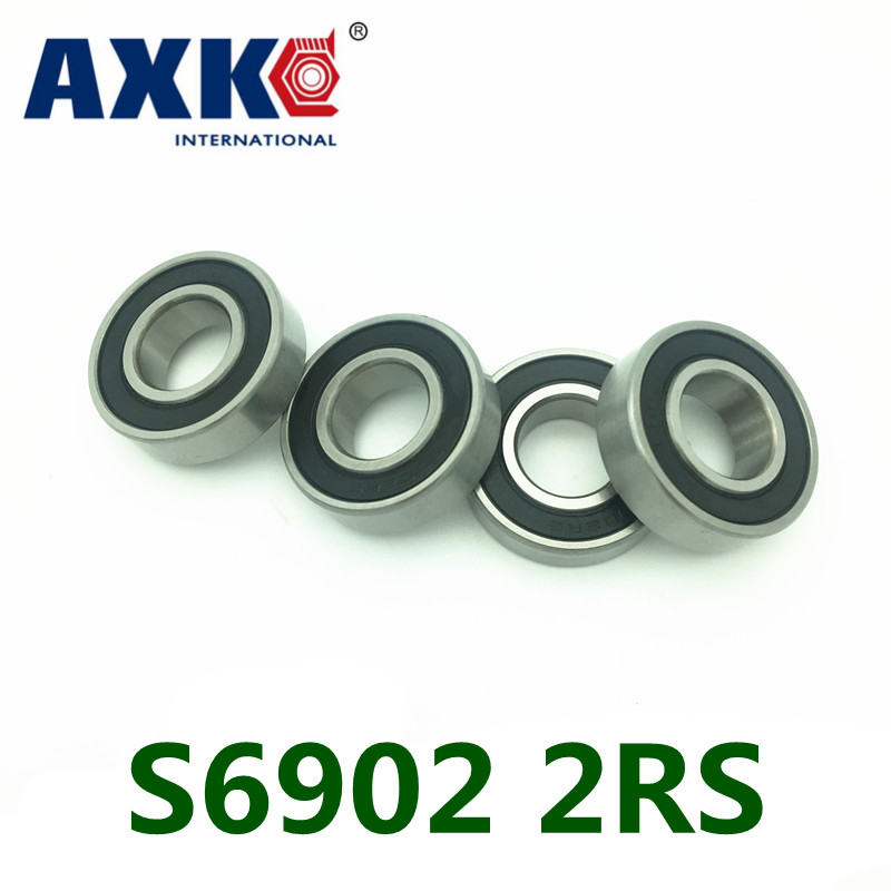 2017 Direct Selling Limited Axk 2pcs Rubber Sealed 440 Hybrid Ceramic Ball Bearings S6902 6902 2rs 15*28*7mm Si3n4 Bike Part 2017 direct selling limited juguetes sexuales 100
