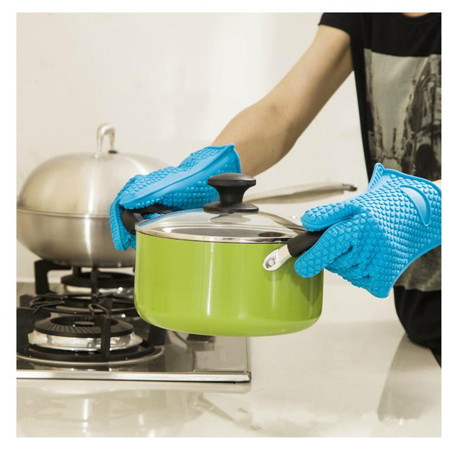 Hitzebeständige Ofenhandschuh Starke Lebensmittelqualität Silikon ...
