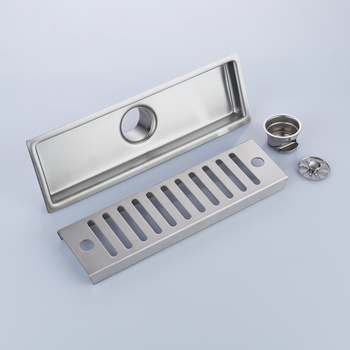 Ванная комната Матовый никель 300*100 мм нержавеющая сталь квадратный Пол Отходов решетки Ванная комната Душ слив трап-MD53760