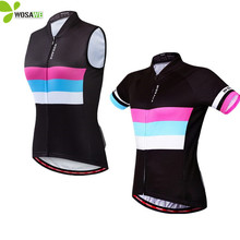 WOSAWE Summer Women's Tight Cycling Vests Jersey Breathable Sleeveless MTB Bike Bicycle Gilet Base Layer Slim Fit Cycle Clothing цены онлайн