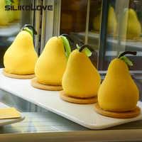 Moule à gâteau en Silicone 3D en forme de poire SILIKOLOVE pour moule à pâtisserie en Mousse truffe Brownies moules à pâtisserie en Silicone