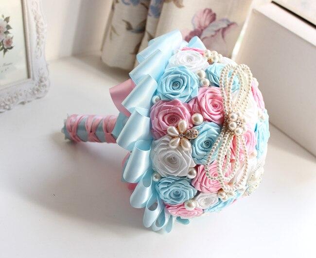 Romantique nuptiale Bouquet beauté mousse Roses mariée fleur mariage fête accessoire photographie Studio accessoires