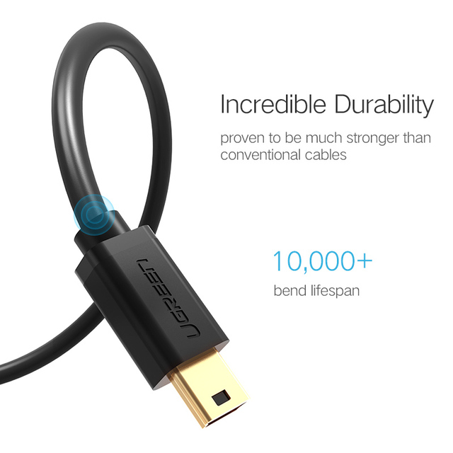 Ugreen Mini USB Cable Mini USB to USB Fast Data Charger Cable for MP3 MP4 Player Car DVR GPS Digital Camera HDD Mini USB