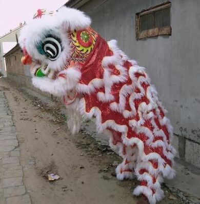 4cf811bec chinese lion dance costume for 2 men animal dance costumes national dance  costumes festival dance costumes