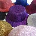 13cm 12pcs/lot Free Shipping Hen Party Felt Glitter Mini Top Hat Fascinator Base for DIY Woman girls hair accessories