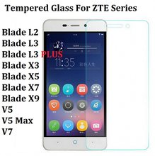 Tempered Glass For ZTE Blade L2 L3 Blade X3 X5 Blade X7 Redbull V5 L3plus A452 Z9mini A520 L4 A612 A450 Screen Protector Case(China)