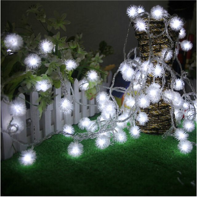 Luminaria 10M 50LED Ampoule Furry Ball String Lights Edelweiss Flocon - Éclairage festif - Photo 2