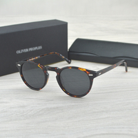 Gregory Peck Brand Designer Men Women Sunglass Vintage Polarized Oliver Peoples Sunglasses OV5186 Retro Sun