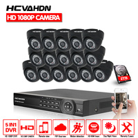HD AHD cctv system 16ch dvr kit 16 channel HDMI AHD DVR with indoor 3000TVL Security Camera surveillance System multi language