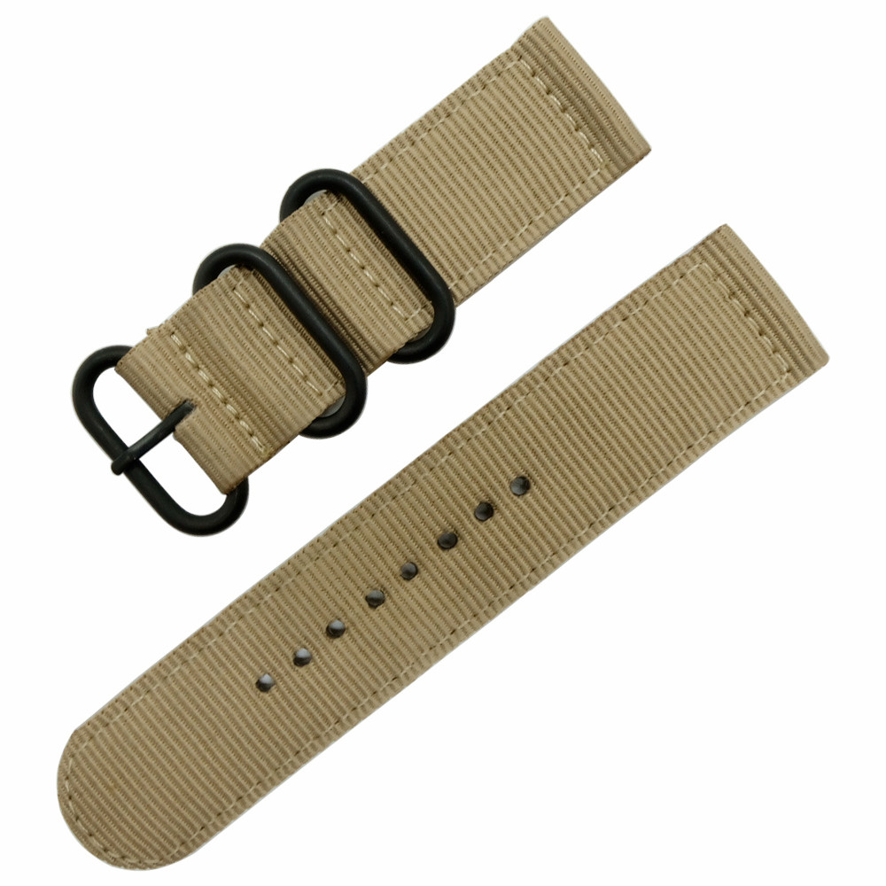 22mm Nylon Watch Band for Samsung Gear S3 Classic Frontier Zulu Fabric Strap Wrist Belt Bracelet Black Gray Blue Brown Green in Watchbands from Watches