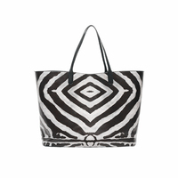 Female Leisure Bag And Handbag Black And White Zebra Hit Color Picture The Big Capacity Mummy