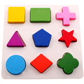 Small Three Piece Set Of Wisdom Geometry Small Shape Board Wooden Puzzle Toy