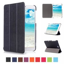 """Extremely Slim Tri-fold Stand Leather-based Case Protecting Cowl For Samsung Galaxy Tab S2 eight.zero SM-T713 T715 T719 T710 eight"""" Pill PC"""
